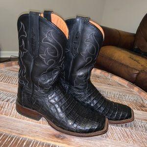 Tony Lama Men's 8.5 Caiman Western Cowboy Boot